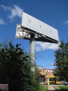 Изготовление рекламных конструкций Ламели рекламного щита «Птица»